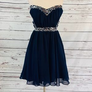 NWT WINDSOR $160 Black Prom Cocktail Party Day Dress 7